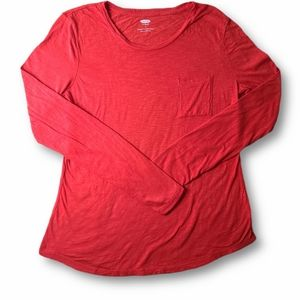 Old Navy Orange Relaxed Long-Sleeve T-Shirt